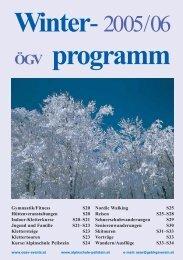 ÖGV-Witerprogramm 2005/06 - Gebirgsverein