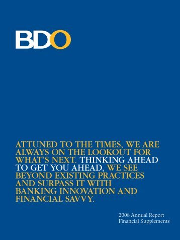 Notes to Financial Statements - BDO