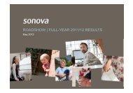ROADSHOW | FULL-YEAR 2011/12 RESULTS - Sonova