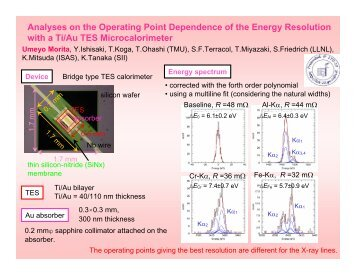 Analyses on the Operating Point Dependence of the Energy ...