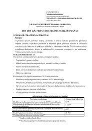 2013-2015-ųjų metų strateginis veiklos planas - Vilniaus universitetas