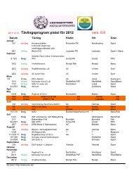 2011-12-14 Tävlingsprogram pistol för 2012 vers. 0.8 - Extrasida.se