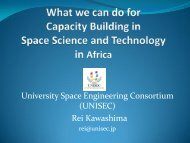 What We Can Do for Capacity Building in Space Science and ...