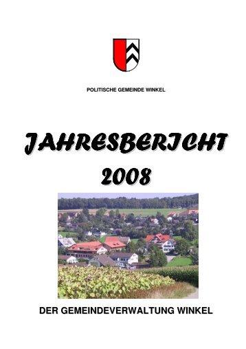 JAHRESBERICHT 2008 - Gemeinde Winkel