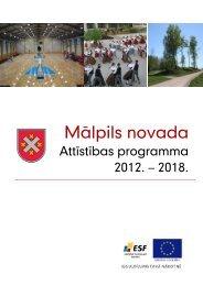 Mālpils novada attīstības programma elektroniski pieejama šeit...