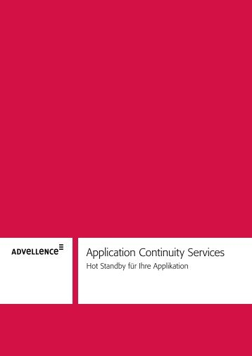 Application Continuity Services - Advellence