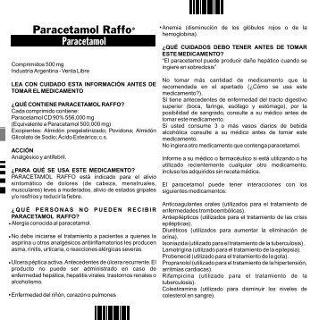 345069A PARACETAMOL VL PROSPECTO P2 - Raffo
