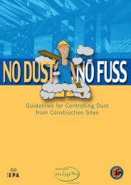 Guidelines for Controlling Dust from Construction Sites