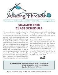 Summer 2010 CLASS SCHeDuLe - Amazing Threads.