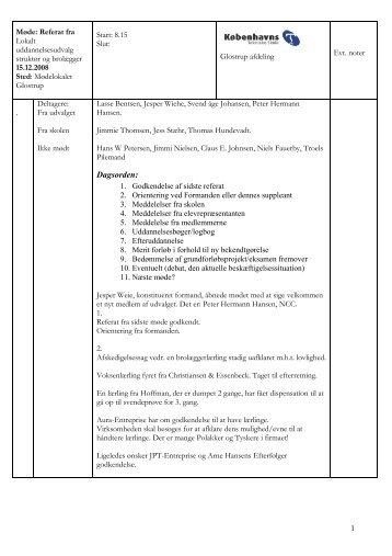 Referat december 2008