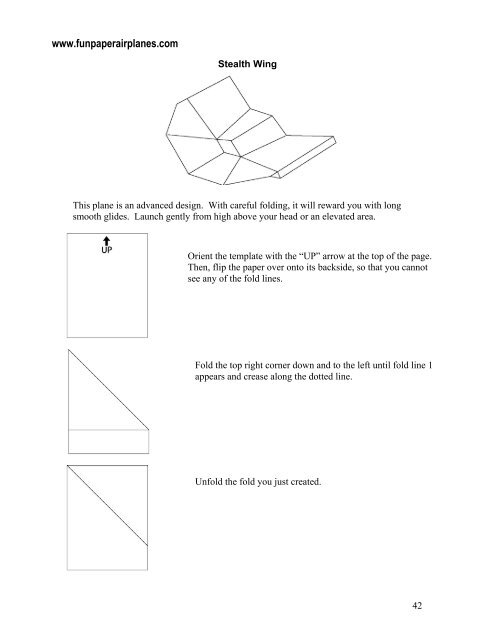 Stealth Wing - Fun Paper Airplanes