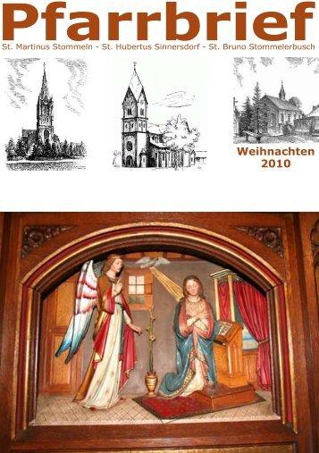 Weihnachten 2010 - St-martinus-stommeln.de