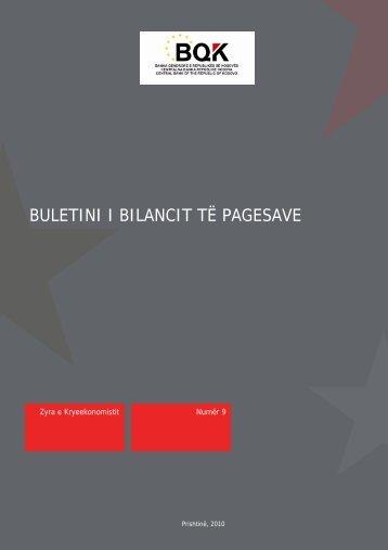 Buletini Nr.9 01 maj 2010 - Banka Qendrore e Republikës së Kosovës
