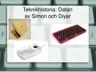 Data historia av Simon och Diyar - Teknik från Lillåns skola
