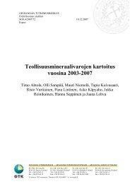 Teollisuusmineraalivarojen kartoitus vuosina 2003-2007 - Arkisto.gsf.fi