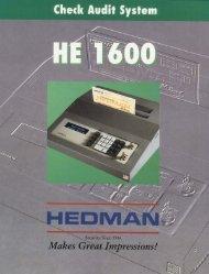 Hedman HE1600.pdf - SRS Systems Inc.