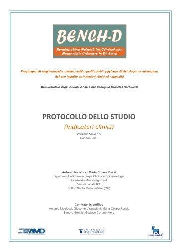 Protocollo dello studio (Indicatori clinici) - Consorzio Mario Negri Sud