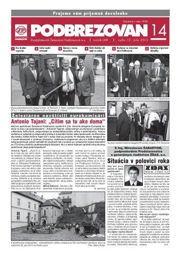 PDF verzia - Železiarne Podbrezová as