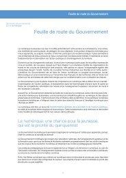 Feuille de route - Portail du Gouvernement