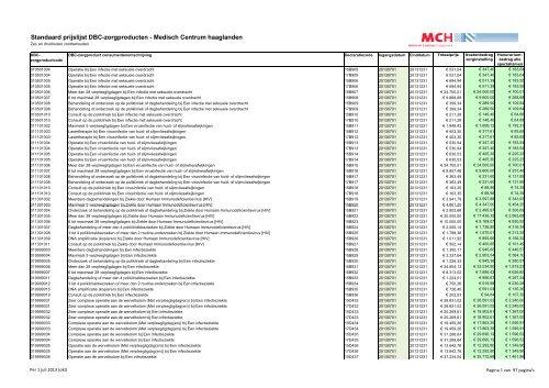 Standaardprijslijst DBC-zorgproducten per juli 2013.pdf - Medisch ...