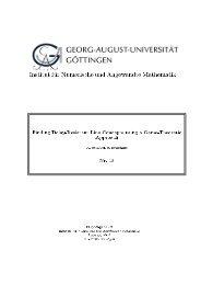 Institut für Numerische und Angewandte Mathematik - Georg-August ...