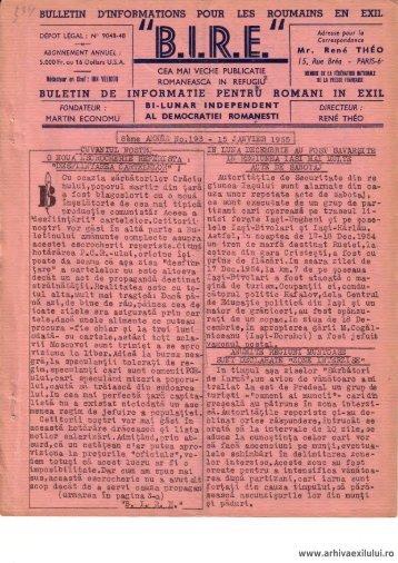 BIRE NR. 193 - arhivaexilului.ro