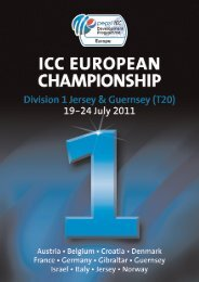 Programme 2011:A4 11/7/11 13:47 Page 1 - CricketEurope