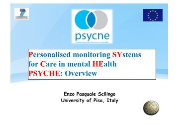 Personalised monitoring SYstems for Care in mental ... - Create-Net