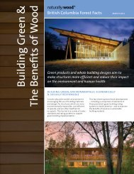 Building Green & The Benefits of W ood - Naturally:wood