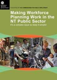 Making Workforce Planning Work in the NT Public Sector
