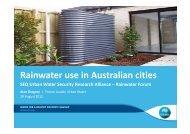 Status and Future of Rainwater Tanks in Australia - Urban Water ...