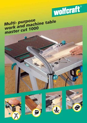 Multi- purpose work and machine table master cut 1000 - D & M Tools