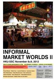 Informal Market Worlds - Institute TU Wien