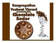 Our Passover Things - Congregation Yeshuat Yisrael