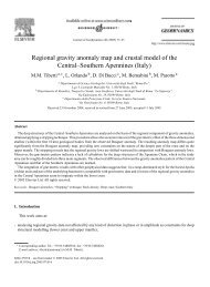 Regional gravity anomaly map and crustal model of the Central ...