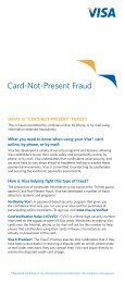 What you need to know when using your Visa ® card online, by ...