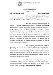 CONSULTORIA JURÍDICA PARECER Nº 1.670 PROJETO DE LEI ...