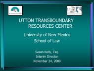 Water rights, transfers, and more - Utton Transboundary Resources ...