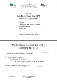 Cours 0 - Site Master CHM&IE - Université du Maine