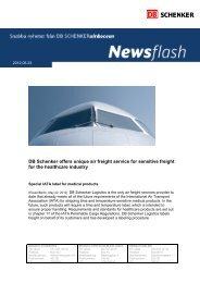 DB Schenker offers unique air freight service for sensitive freight for ...