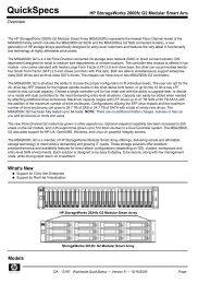 HP StorageWorks 2000fc G2 Modular Smart Array