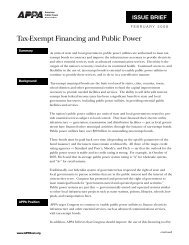 Tax-Exempt Financing and Public Power