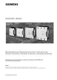 SIKOSTARTTM 3RW34 - Siemens Industry, Inc.