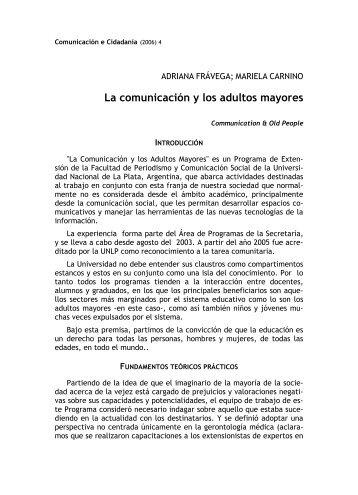 La comunicación y los adultos mayores - Observatorio Galego dos ...