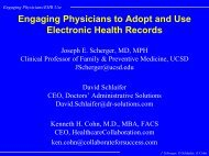 Engaging Physicians/EHR Use - Healthcare Collaboration