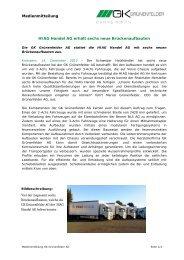 Medienmitteilung HIAG Handel AG erhält sechs neue ...