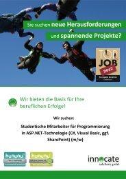 Werkstudent ASP.NET-Technologie - innocate solutions gmbh