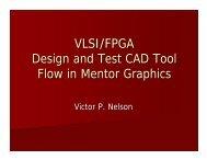 VLSI/FPGA Design and Test CAD Tool Flow in Mentor Graphics