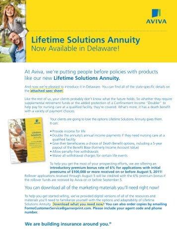 MultiChoice Lifetime Solutions Annuity now ... - ECA Marketing