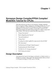 Chapter 1 Synopsys Design Compiler/FPGA Compiler - Xilinx